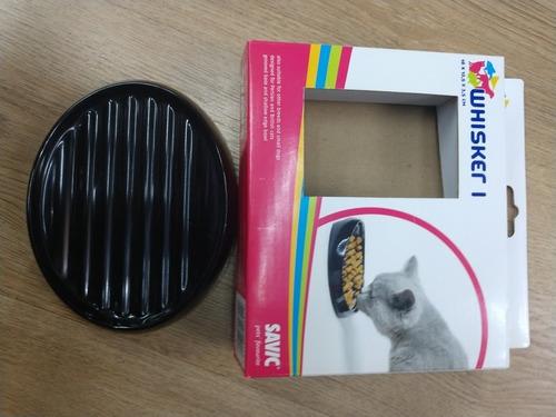 plato para comer lento gatos whisker 1 savic 16*12*3