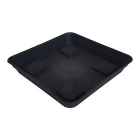 Plato Para Maceta Plastico Cuadrado 20x20cm Negro