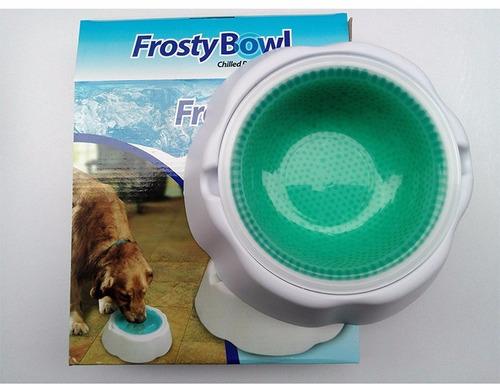 plato para mantener el agua del perrito fresca frosty bowl
