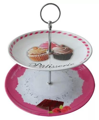 plato para masas 2 pisos melamina muffins lunch cupcakes