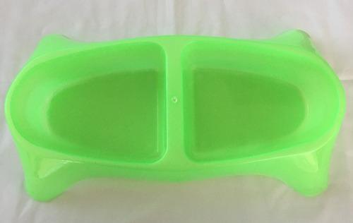 plato para perro de plastico doble grande c.glitter pet plas
