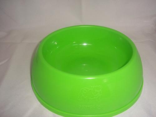 plato para perro redondo plastico mediano verde pet plas