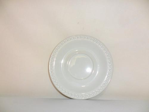 plato pastelero mauve loza 16.5 cm blanco buena calidad