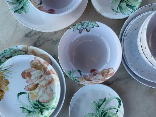 plato pequeño de melamina blossom x 4 unidades