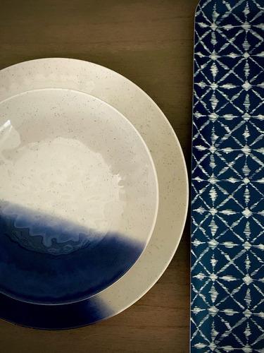 plato playo de melamina blue