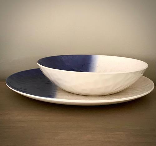 plato playo de melamina blue x 4 unidades