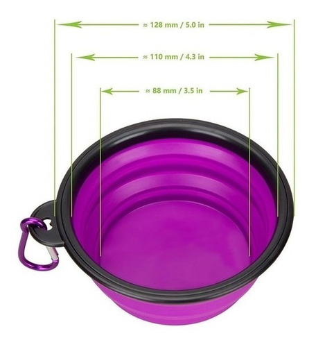 plato plegable para perros y gatos, incluye seguro metalico