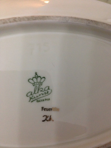 plato porcelana aleman