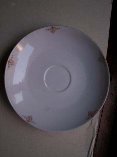plato porcelana checa numerado