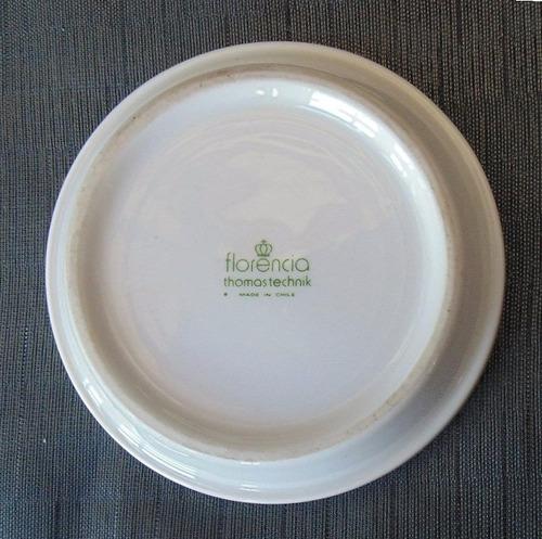 plato porcelana florencia club naval d colección o vitrina