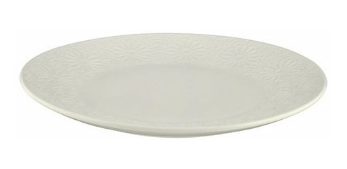 plato porcelana trama margarita 27x3cm