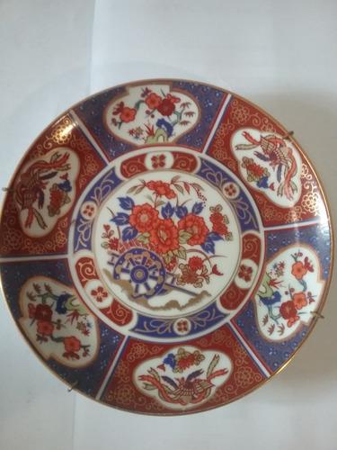 plato porcelana tsuji colgar pared oro 24k oferta