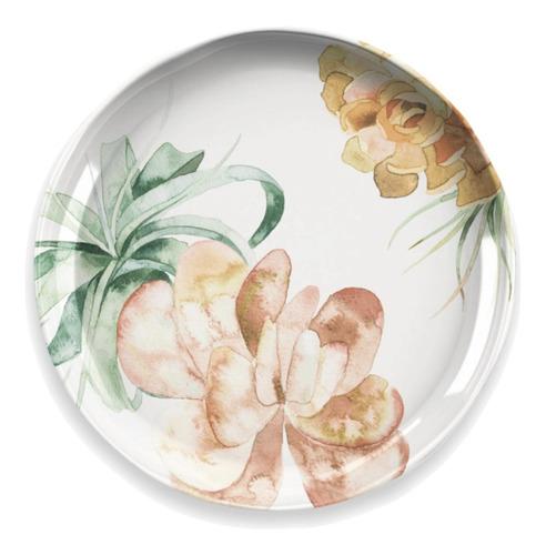 plato postre de melamina blossom x 4 unidades