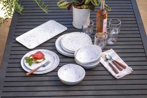 plato postre de melamina terrazo