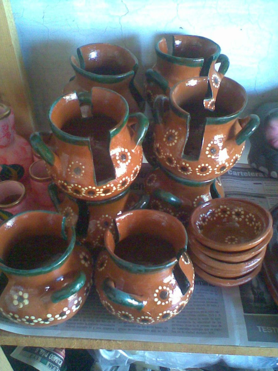 Plato pozolero y servilleteros de barro o ceramica jbr for Platos de ceramica