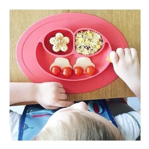 plato silicona antideslizante bebe niños alimentos