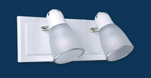plato spot 3 luces blanco cabezal movil e27 apto led bulbo
