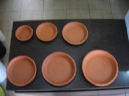 plato terracota para maceta - n12