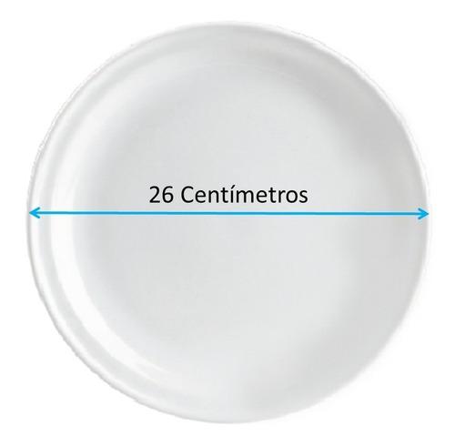 plato trinche tipo cerámica, de loza 26cm madrileña 12pz