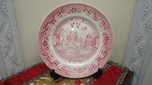 plato willow lozur rosado antiguo diseño oriental miralo