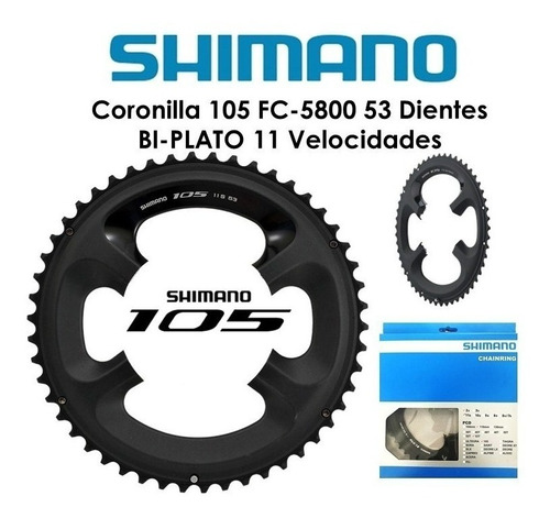 plato/corona  shimano 105  - 11 velocidades
