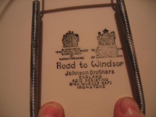 platos 2 porcelana inglesa johnson bros  coleccion años 70