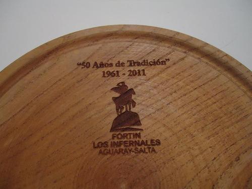 platos algarrobo asado 20cm diametro lustrado regalos madera
