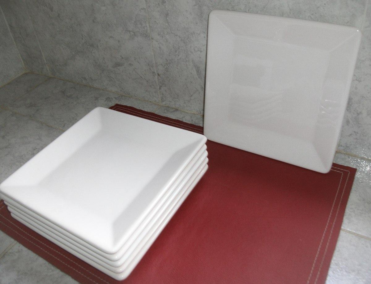 platos cuadrados blancos x 6 + compoteras cuadradas x 6. Cargando zoom. 38f8f7f9e118