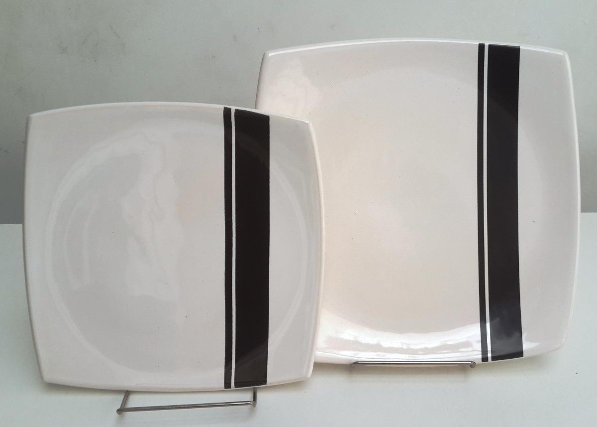 platos cuadrados de cermica vajilla de diseo