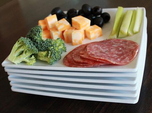 platos cuadrados  de melamina  7.25 pulgadas