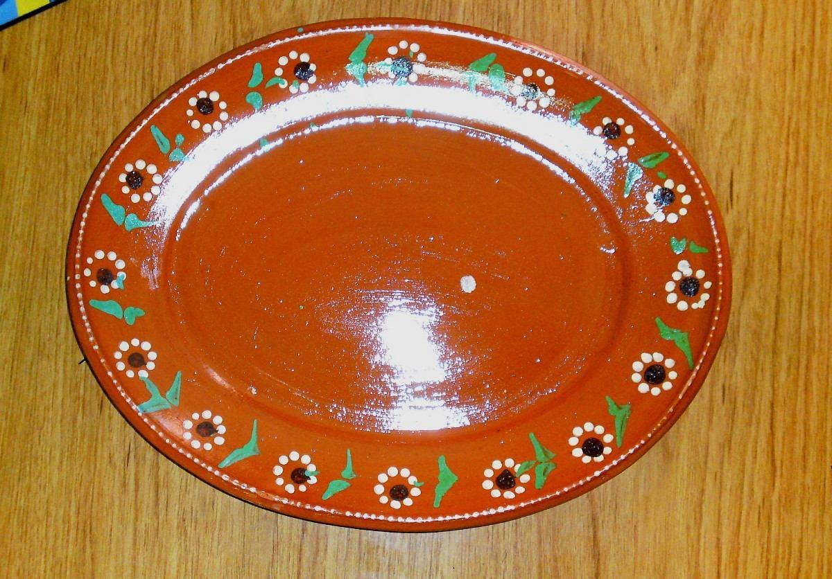 Platos de barro planos extendidos redondo ovalado for Platos vajilla