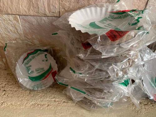 platos de cartón, platos de plástico, para torta, bandejas