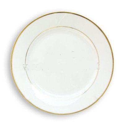 Platos de ceramica de 10 39 39 para sublimacion bordes dorados for Platos para
