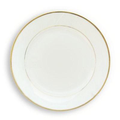 Platos de ceramica de 10 39 39 para sublimacion bordes dorados - Platos de ceramica ...