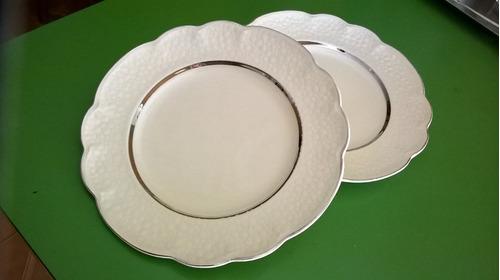 platos de loza inglesa. vajilla antigua. (medianos)