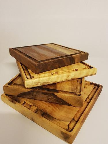 platos de madera juego x 4