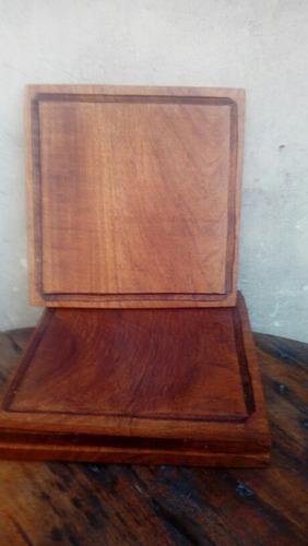 platos de madera para asado tablas de 24cm.