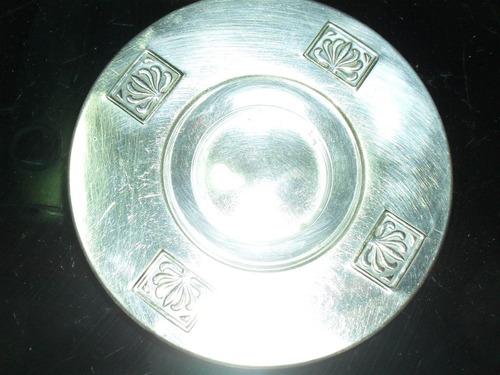 platos de metal plateado.varios usos.