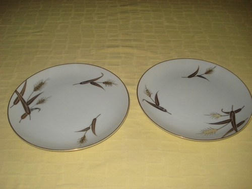 platos de postre japonesas pintadas a mano con dorado