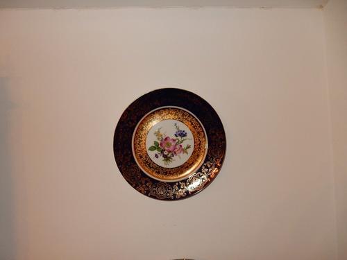 platos decorativos porcelana  bavaria pintado a mano  26 cms