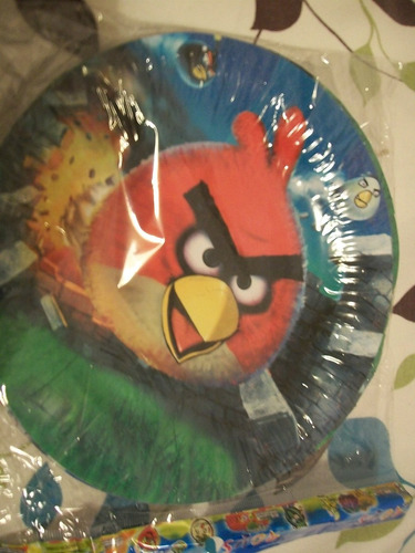 platos descartables angry birds