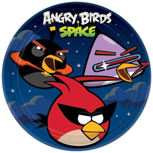 platos desechables grandes angry birds