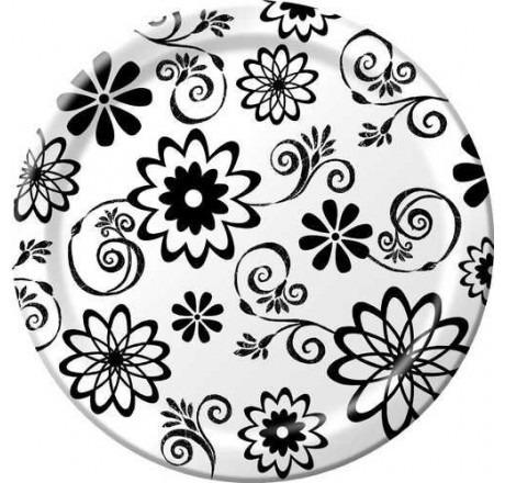 platos desechables grandes flores cósmicas (cosmic flowers)