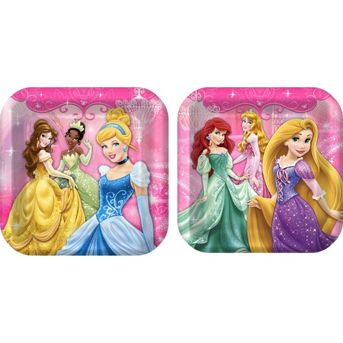 platos desechables princesas disney x 2 modelos