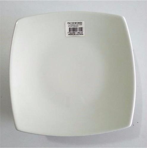 platos medios hexagonales porcelana corona
