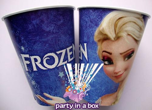 platos o vasos para fiesta de elsa de frozen. modelo 2015