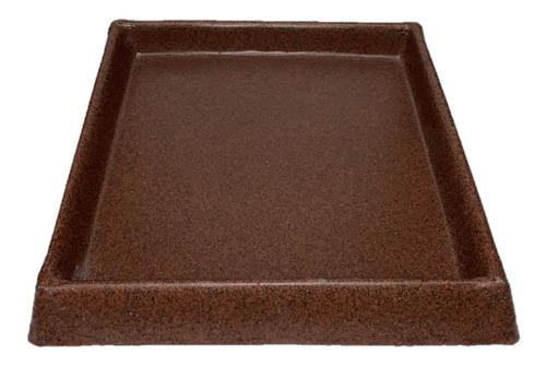 platos para macetas - materas  plasticas cuadradas