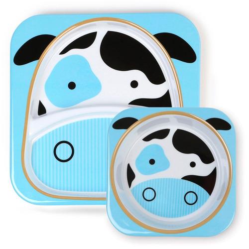 platos para niños zoo vaca-skip hop