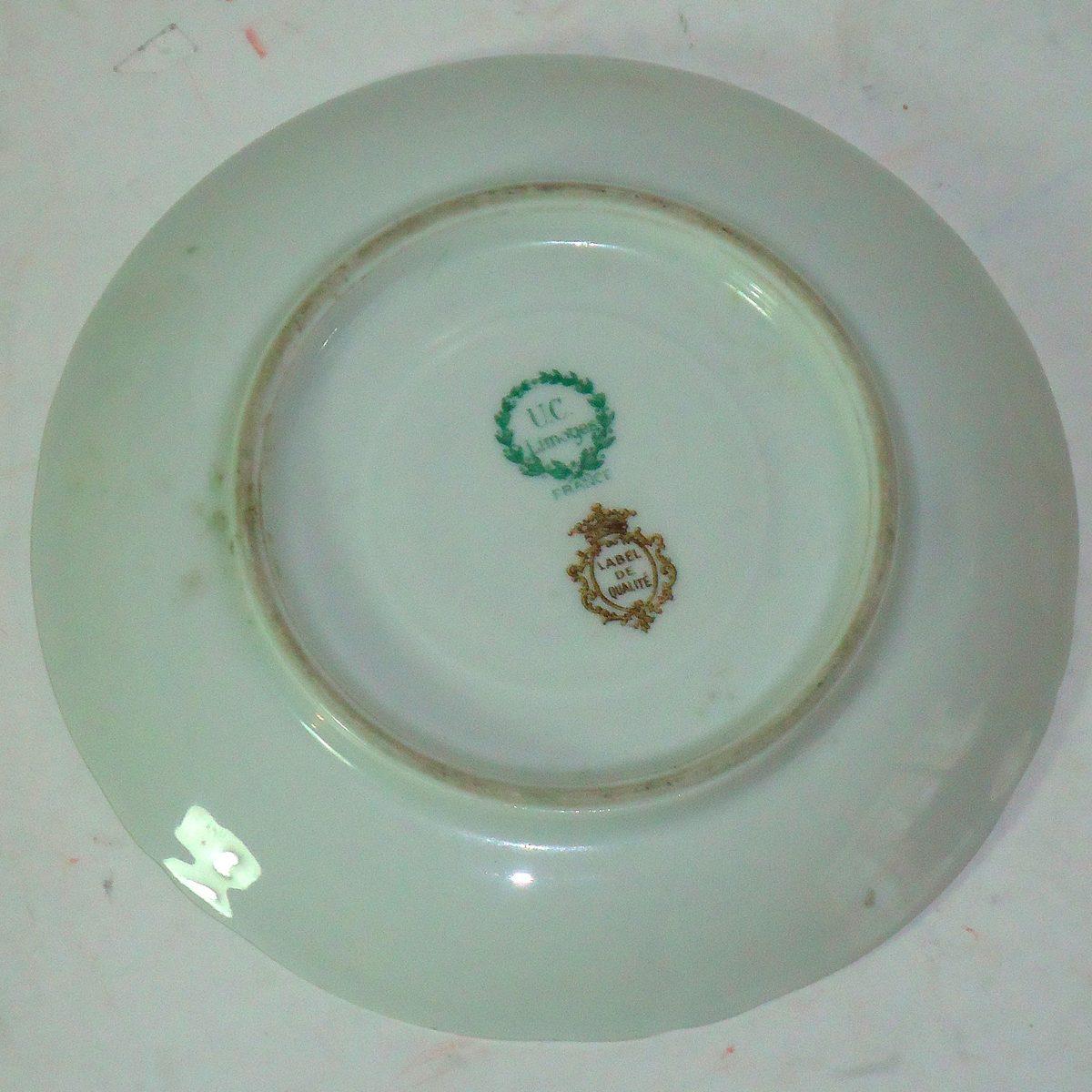 Platos porcelana fina retro limoges francia impecables 14 for Platos porcelana