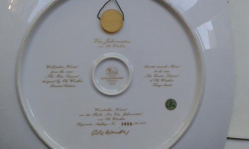 platos porcelana hutchenreuther( las 4 estaciones)